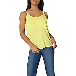 Dorothy Perkins - Yellow detailed trim cami top