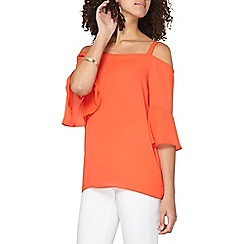 Dorothy Perkins - Tall coral bardot top
