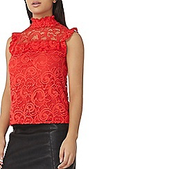 Dorothy Perkins - Coral sleeveless lace top
