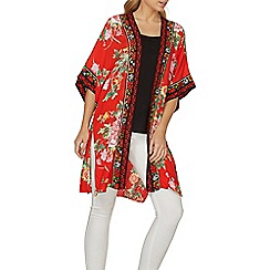 Dorothy Perkins - Red oriental floral cover up
