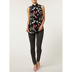 Dorothy Perkins - Pink floral split back top