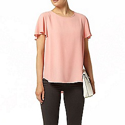 Dorothy Perkins - Peach split back soft t-shirt