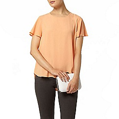 Dorothy Perkins - Apricot split back soft t-shirt