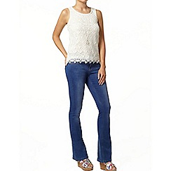 Dorothy Perkins - White crochet lace shell top