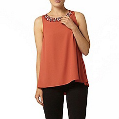 Dorothy Perkins - Embellished frill back top