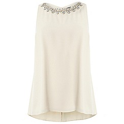 Dorothy Perkins - Nude embellished top