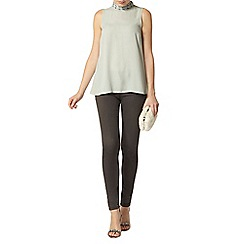 Dorothy Perkins - Mink high neck embellished top
