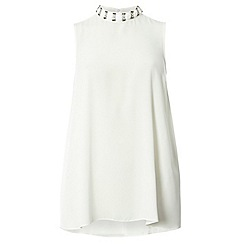 Dorothy Perkins - White high neck top