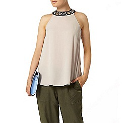 Dorothy Perkins - Stone embellished cutaway top