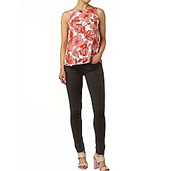 Dorothy Perkins - Pink floral v-back top
