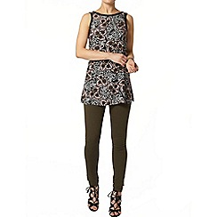 Dorothy Perkins - Blush/black boho print tunic