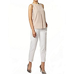 Dorothy Perkins - Nude embellished shell top