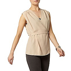 Dorothy Perkins - Nude d-ring sleeveless wrap top
