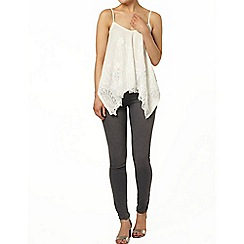 Dorothy Perkins - Ivory embroidered camisole top