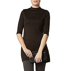 Dorothy Perkins - Black and khaki tunic top