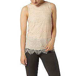 Dorothy Perkins - Stone lace long line top