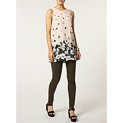 Dorothy Perkins - Blush border floral tunic top