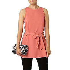 Dorothy Perkins - Pink sleeveless tie up tunic top