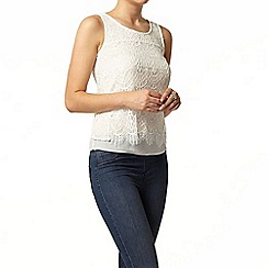 Dorothy Perkins - Ivory double lace shell top