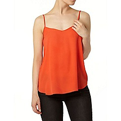 Dorothy Perkins - Red v front camisole top