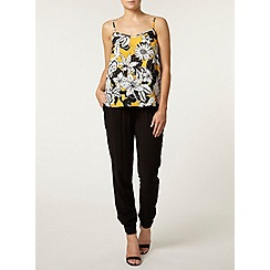 Dorothy Perkins - Yellow floral v front camisole top