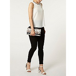 Dorothy Perkins - Ivory embellished sleeveless wrap back top