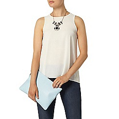 Dorothy Perkins - Ivory white dip back sleeveless top