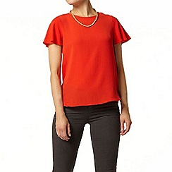 Dorothy Perkins - Red split back soft t-shirt