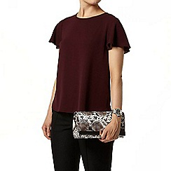 Dorothy Perkins - Purple curve hem split back t-shirt