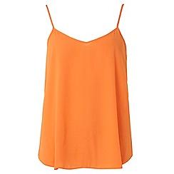 Dorothy Perkins - Orange inverted pleat camisole