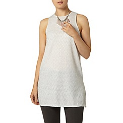 Dorothy Perkins - Silver longline tunic