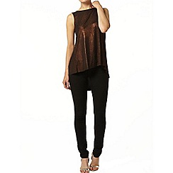 Dorothy Perkins - Bronze shimmer dip back top