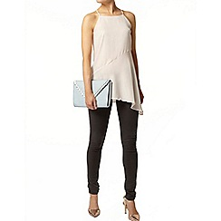 Dorothy Perkins - Nude asymmetric foil camisole top