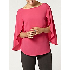 Dorothy Perkins - Pink split sleeve top