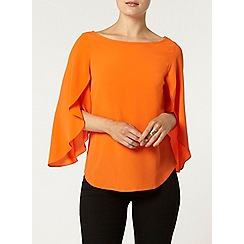 Dorothy Perkins - Orange split sleeve top
