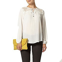 Dorothy Perkins - Ivory lace yoke top