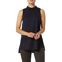 Dorothy Perkins - Navy collar tunic