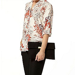 Dorothy Perkins - Ivory oriental roll sleeve shirt