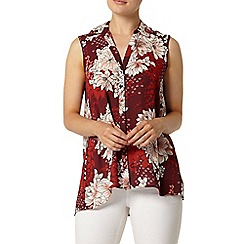 Dorothy Perkins - Plum oriental sleeveless shirt