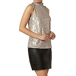 Dorothy Perkins - Nude sequin high neck top