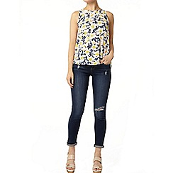 Dorothy Perkins - Marble print wrap back top