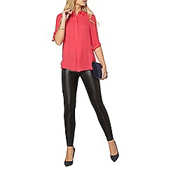 Dorothy Perkins - Pink roll sleeve shirt