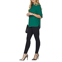 Dorothy Perkins - Green roll sleeve shirt