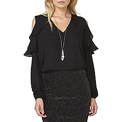 Dorothy Perkins - Ruffle cold shoulder blouse