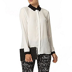 Dorothy Perkins - Ivory contrast scallop blouse