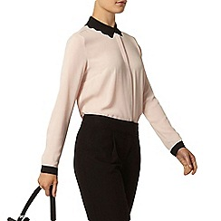 Dorothy Perkins - Blush contrast scallop shirt