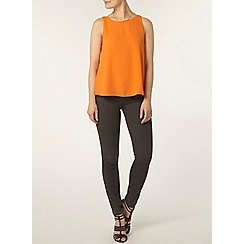 Dorothy Perkins - Orange v back sleeveless top
