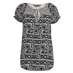 Dorothy Perkins - Tall navy paisley t-shirt