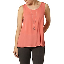 Dorothy Perkins - Coral sleeveless camisole
