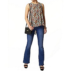 Dorothy Perkins - Mint paisley dip back top